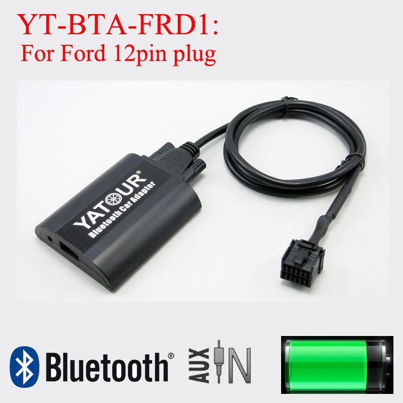Yatour Car Radio Bluetooth Music Streaming Mp3 Phone Call Hands Free Decorder For Ford 12 Pin Radios Car Stereo Car Bluetooth Car Radio