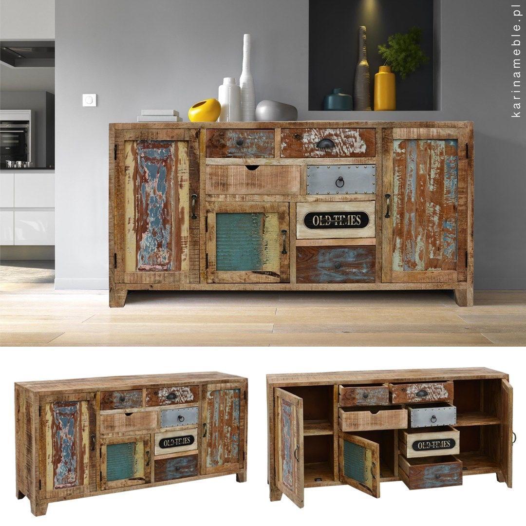 Meble Loftowe Indyjska Komoda Z Kolonialne Drewno Mango I Z Recyklingu Home Decor Furniture Decor