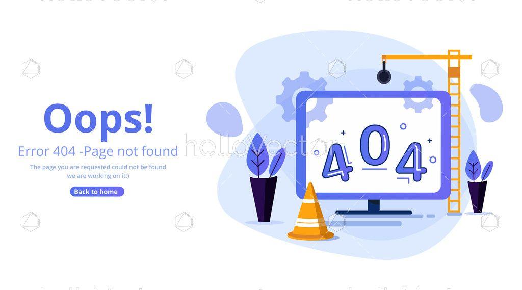 Error 404 Page Template Download Graphics Vectors In 2020 Page Template Templates Templates Downloads