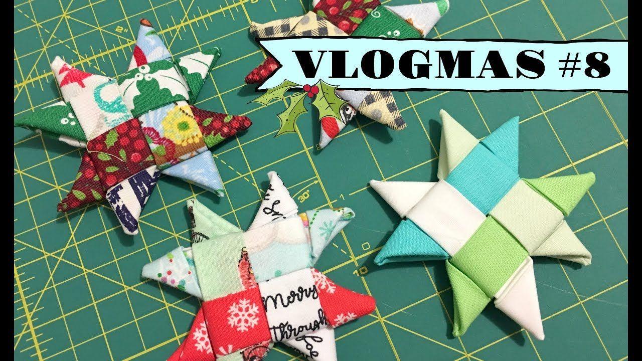Vlogmas 8 Making Scandinavian Fabric Stars Scandinavian Fabric Fabric Stars Fun Christmas Crafts