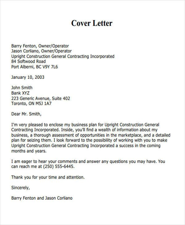 Business Proposal Letter Examples Service Cover Sample Cleaning