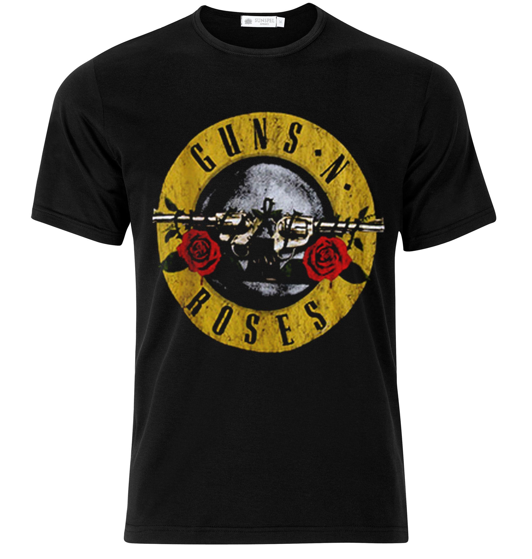 Guns N Roses Logo Vintage Tshirt Fashion tees, Mens