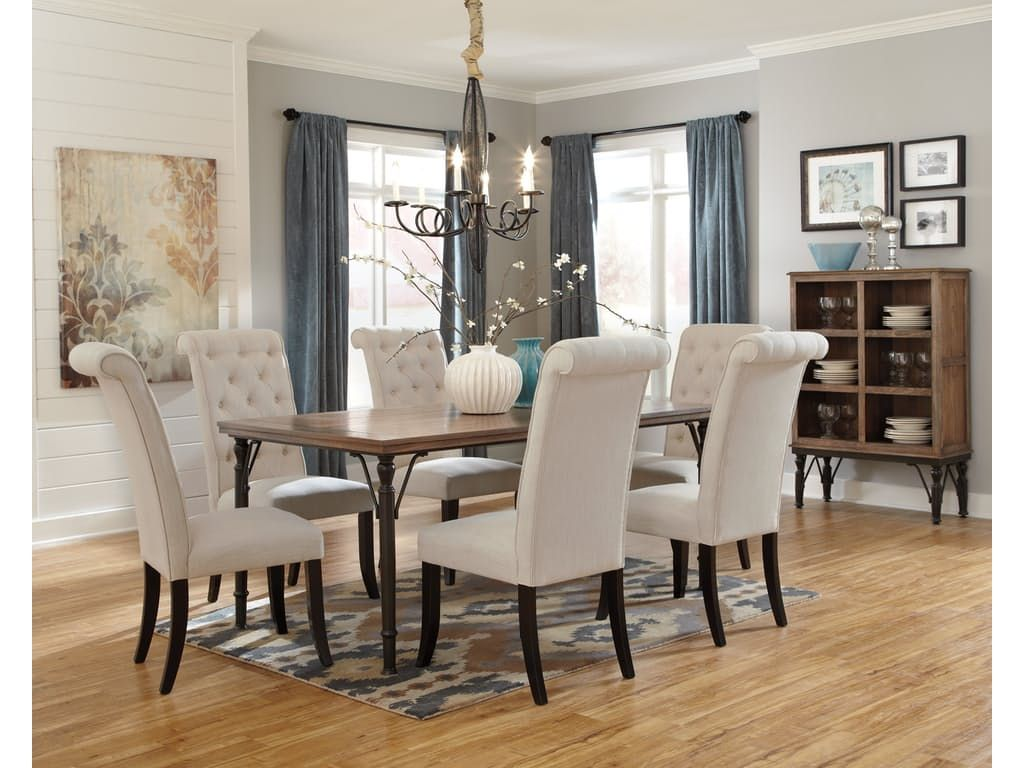Signature Design By Ashley Rectangular Dining Room Table D530 25   I. Keating  Furniture