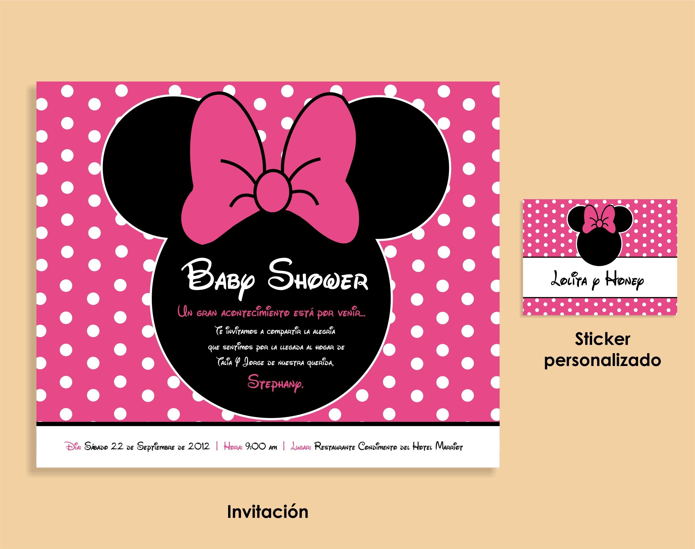 Minnie Mouse Baby Shower invitation | My Blúm\'s work | Pinterest ...
