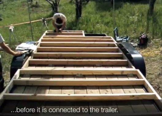 how to floor and frame a tumbleweed tiny house on a trailer - Tiny House Framing 2