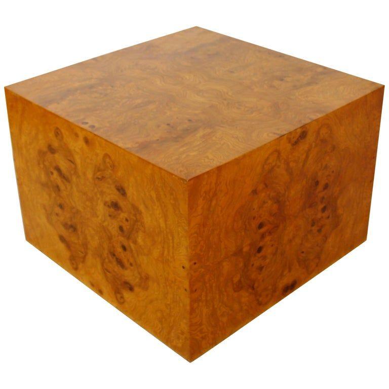 Midcentury modern milo baughman thayer coggin burl wood