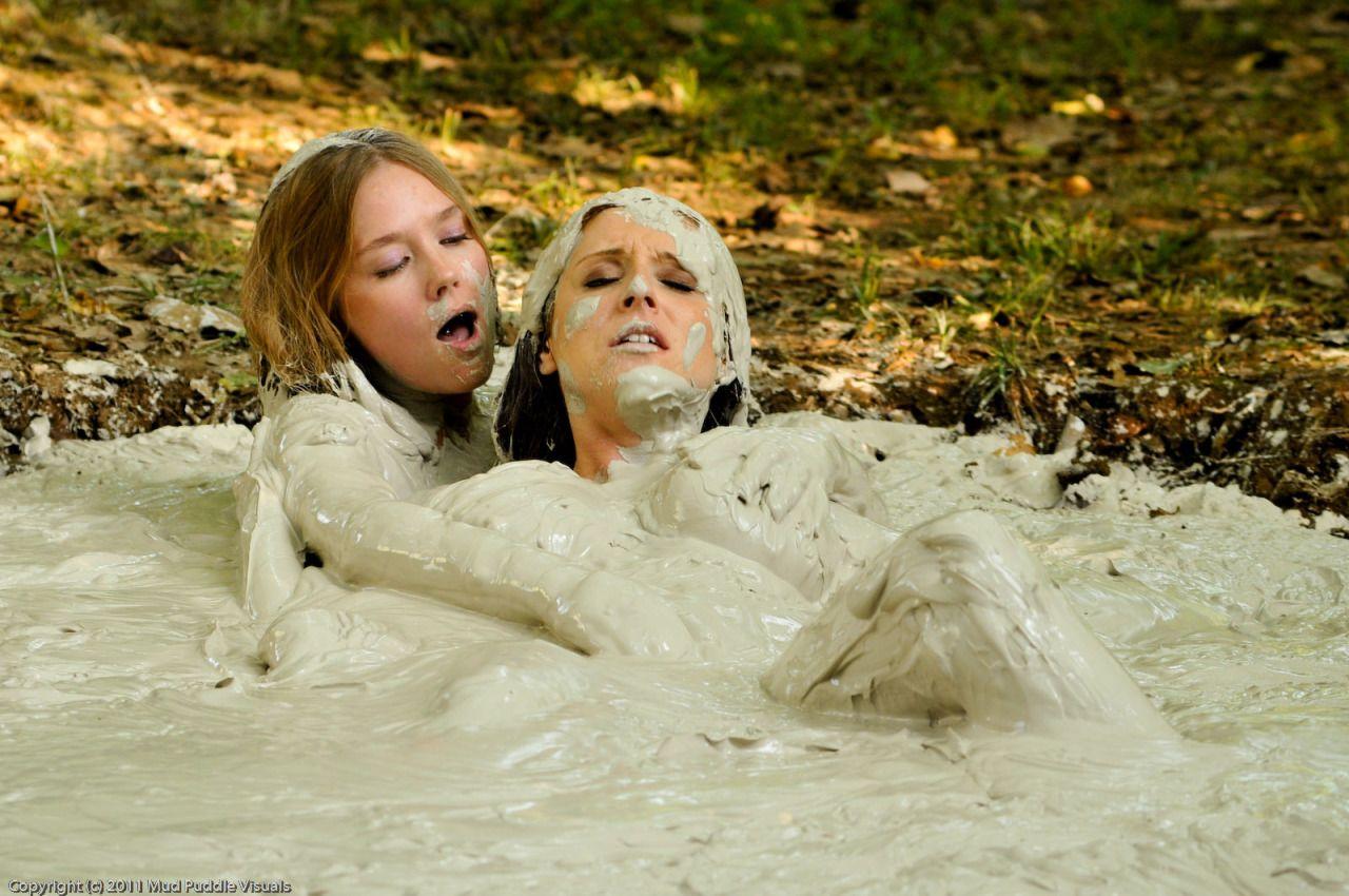 Lesbian mud porn