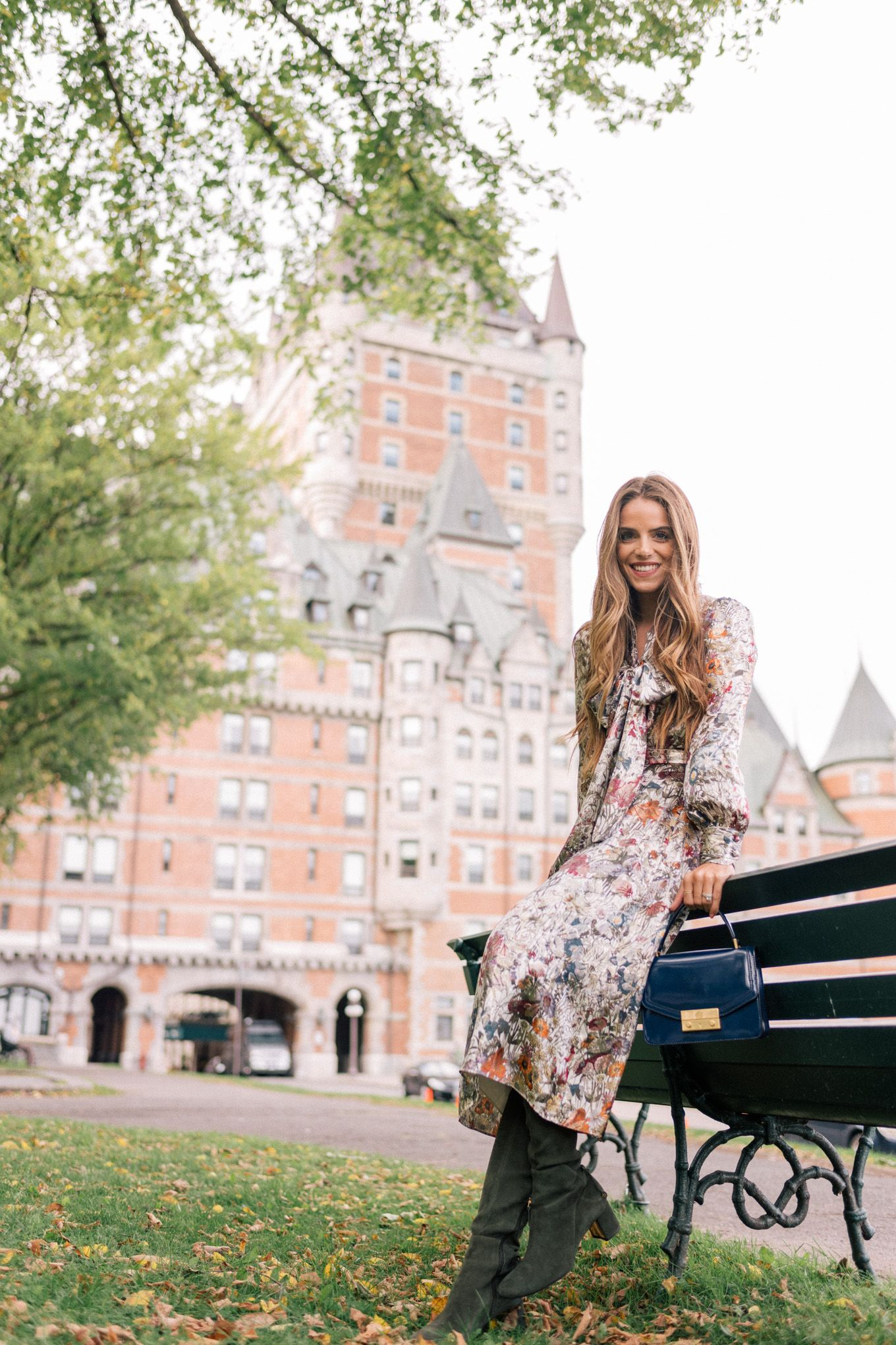 117fc926de5 New post on toryburch. Julia Engel in our Vanessa Dress and Addison Boot
