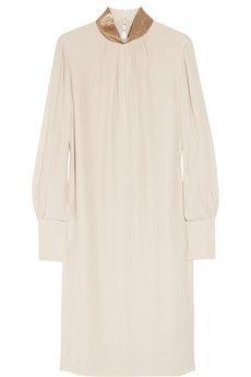 Chloé|Embellished silk crepe de chine dress|NET-A-PORTER.COM - StyleSays