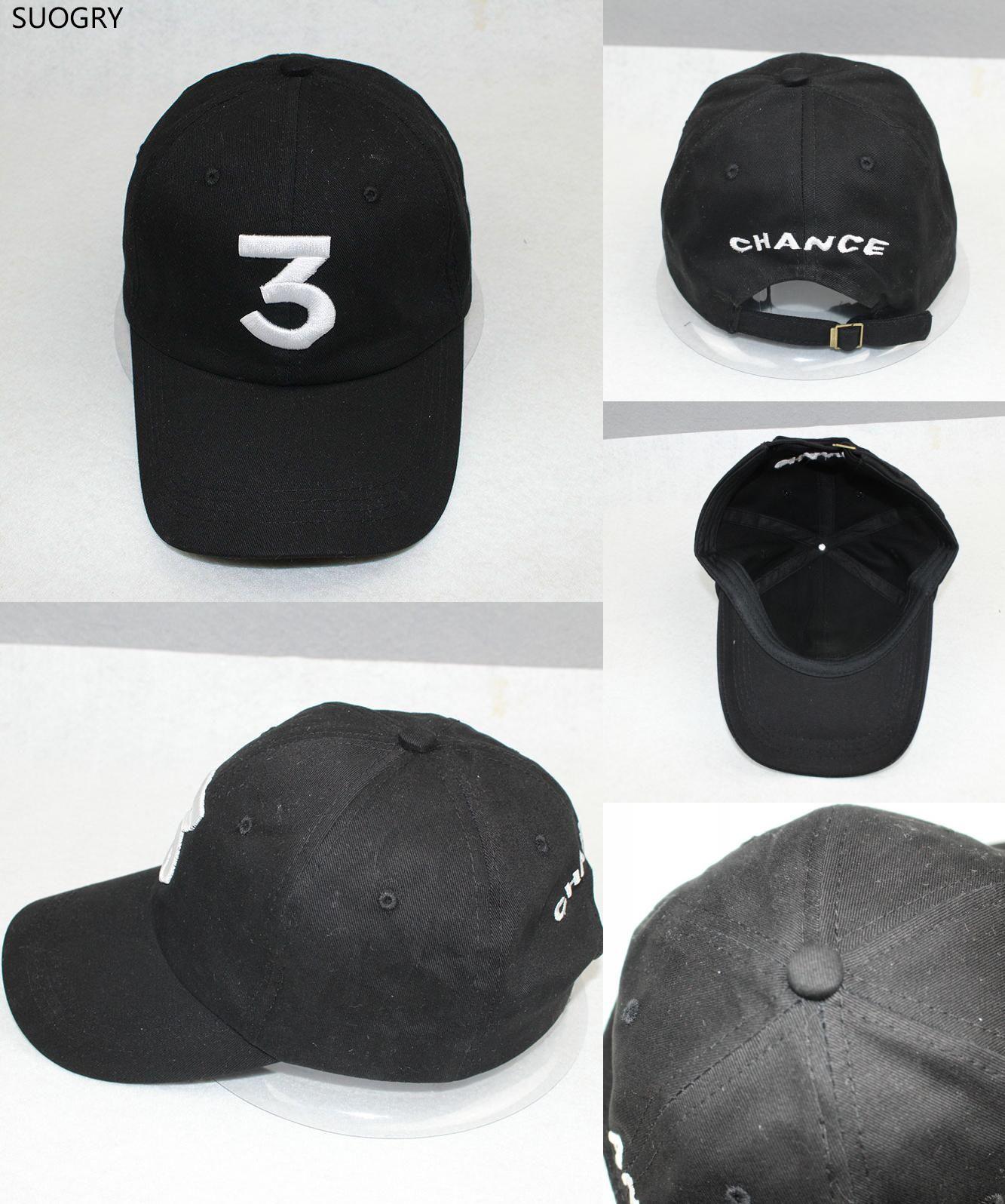6b8bf740b26  Visit to Buy  Popular chance the rapper 3 Hat Cap Black Letter Embroidery  Baseball Cap Hip Hop Streetwear Strapback Snapback Sun Hat Bone   Advertisement