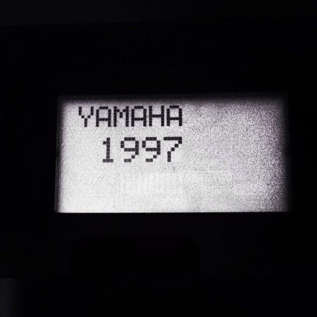 Yamaha An1x, 1997. (start display of my own one).
