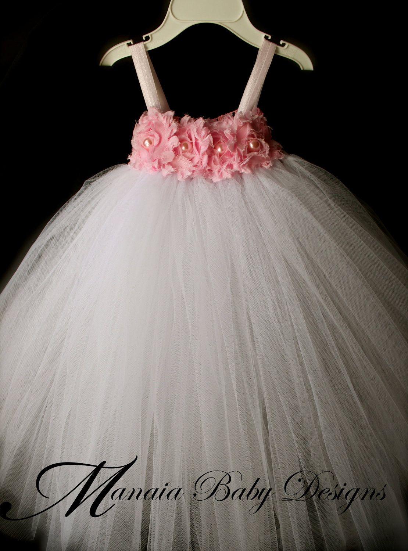 c4ff81deb90e Flower Girl Tutu Dress / Pink Tutu Dress by ManaiaBabyDesigns   deco ...