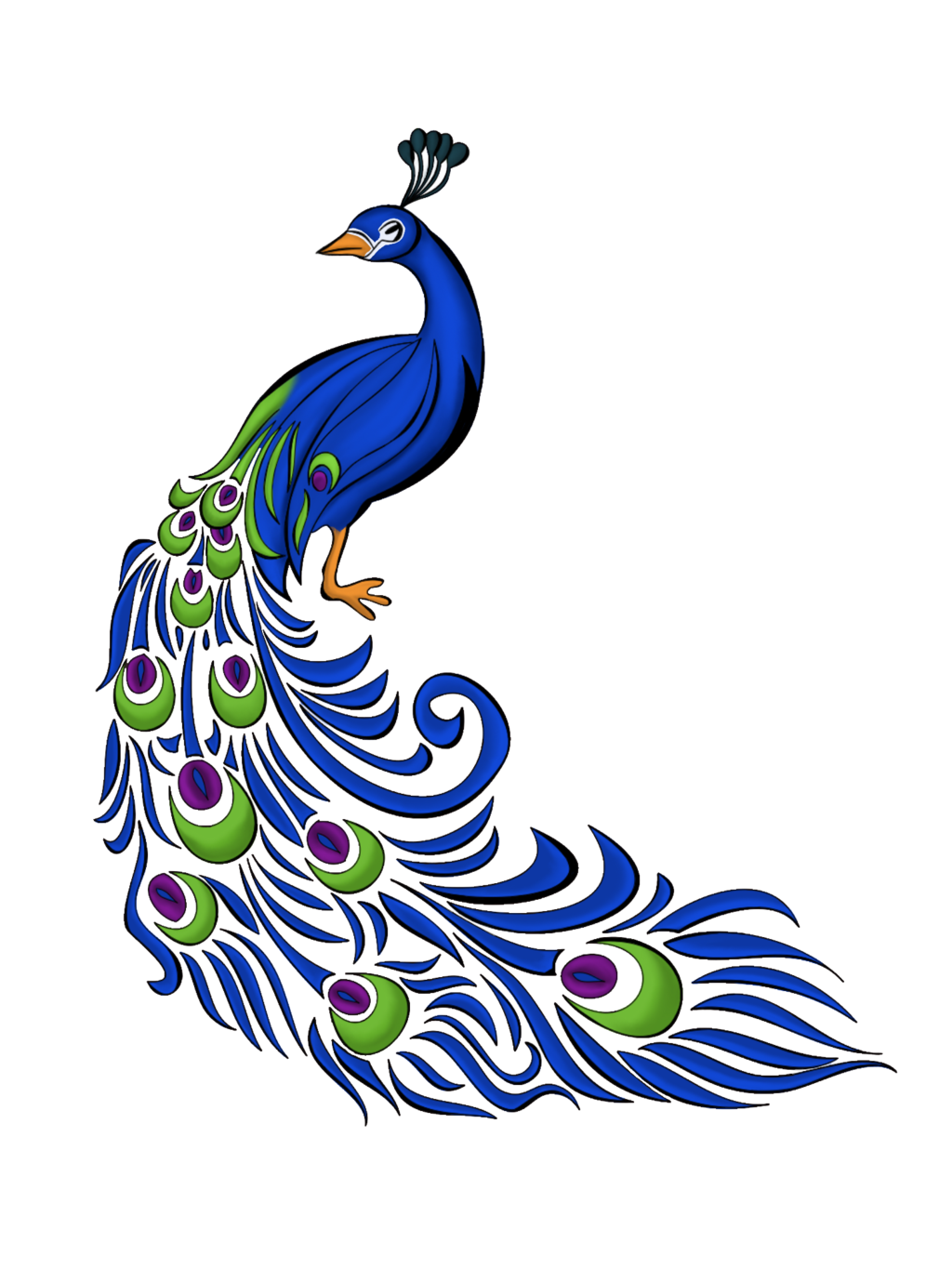 peacock feather vector free graphics and art jobspapa awesome rh pinterest com peacock clip art for invitations peacock clipart black and white