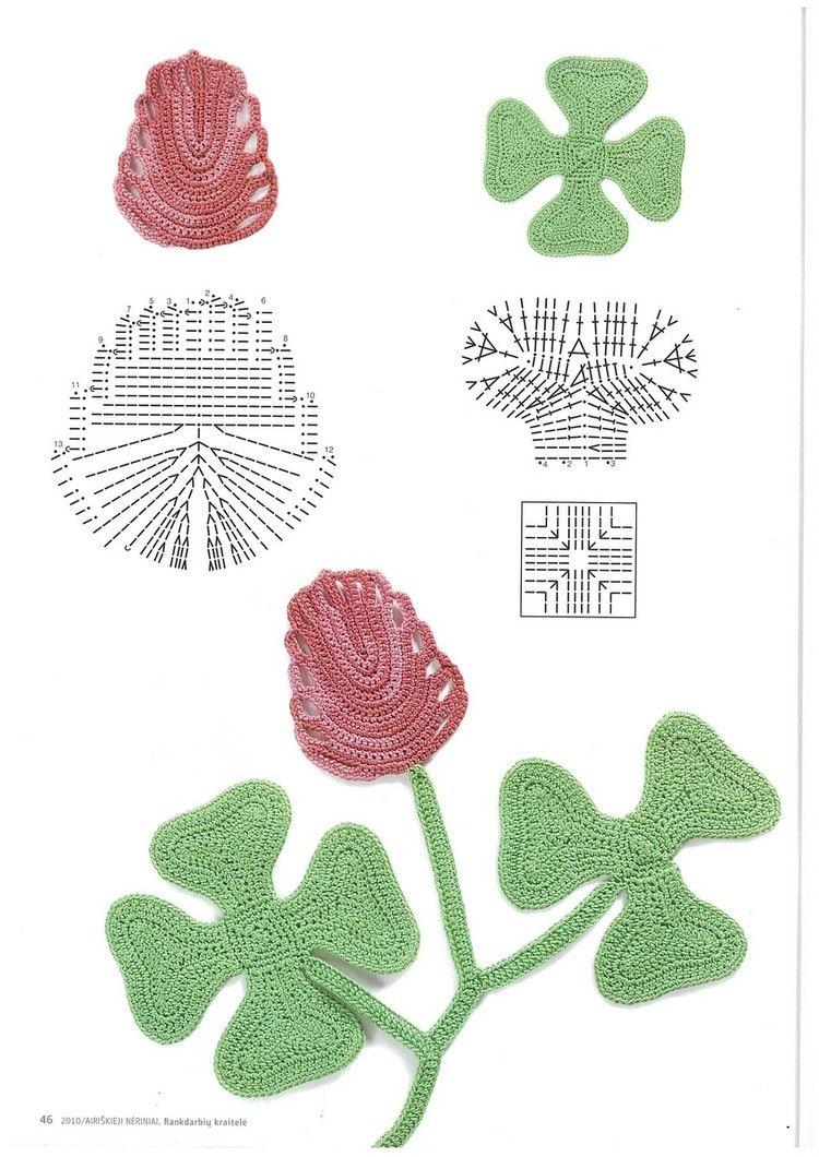 Irish crochet | Crochet Hojas | Pinterest | Crochet irlandés, Flores ...