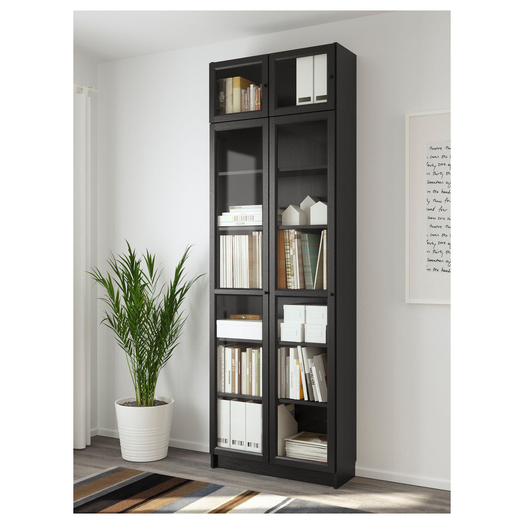 lowest price ec172 3ec22 IKEA BILLY / OXBERG Black-Brown Bookcase   Elise's Bedroom ...