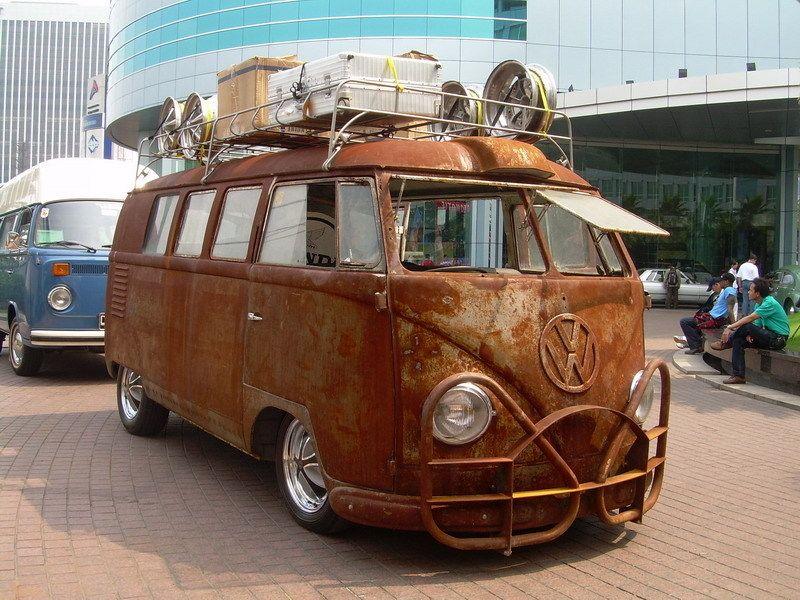 1954 T1 Vw Bus Rat Barndoor Vintage West Java Indonesia Rat Rod Vintage Vw Bus Volkswagen Bus