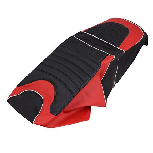 uxcell Women Motorbike Waterproof Rain Protection Seat Cover Black Red for Yamaha ZY125T-5