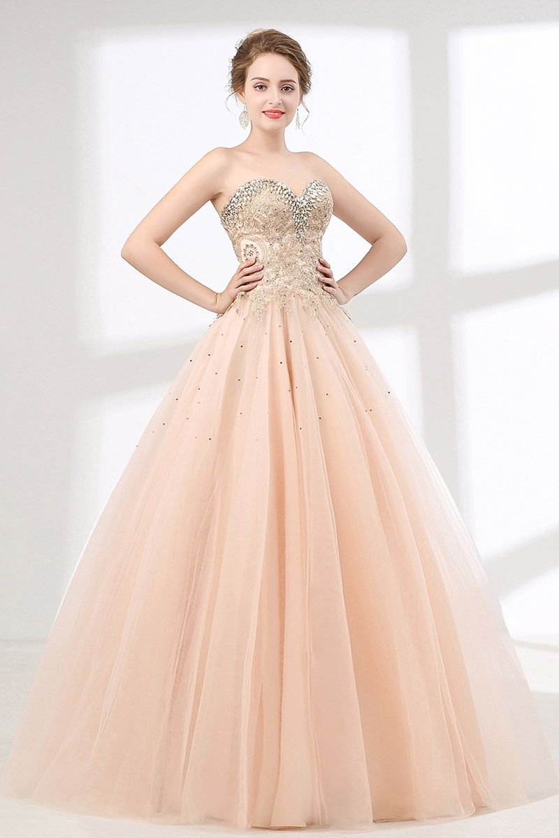 Pink Ball Gown Lace Quinceanera Dress With Crystal Sweetheart Neckline Ch6611 Gemgrace Com Ball Dresses Junior Formal Dresses Prom Dresses Ball Gown [ 1200 x 800 Pixel ]