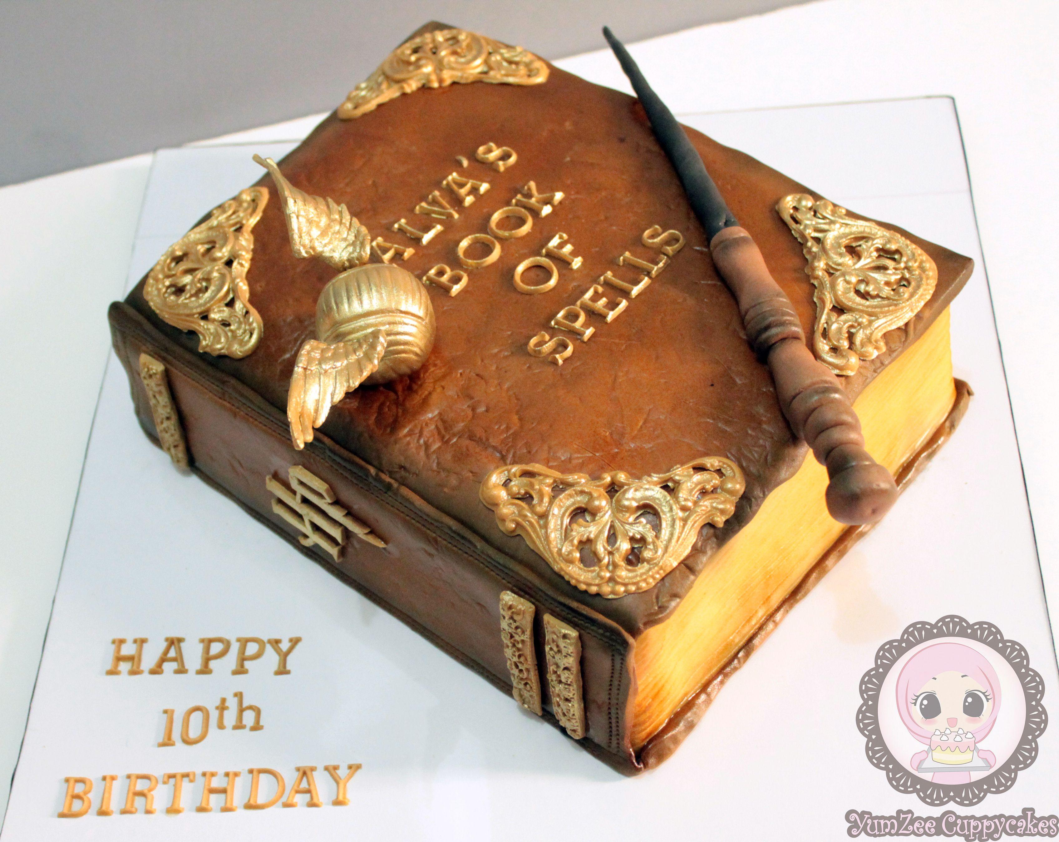 Harry Potter Book Of Spells Cake Harry Potter Geburtstagskuchen Buch Kuchen Harry Potter Torte Rezept