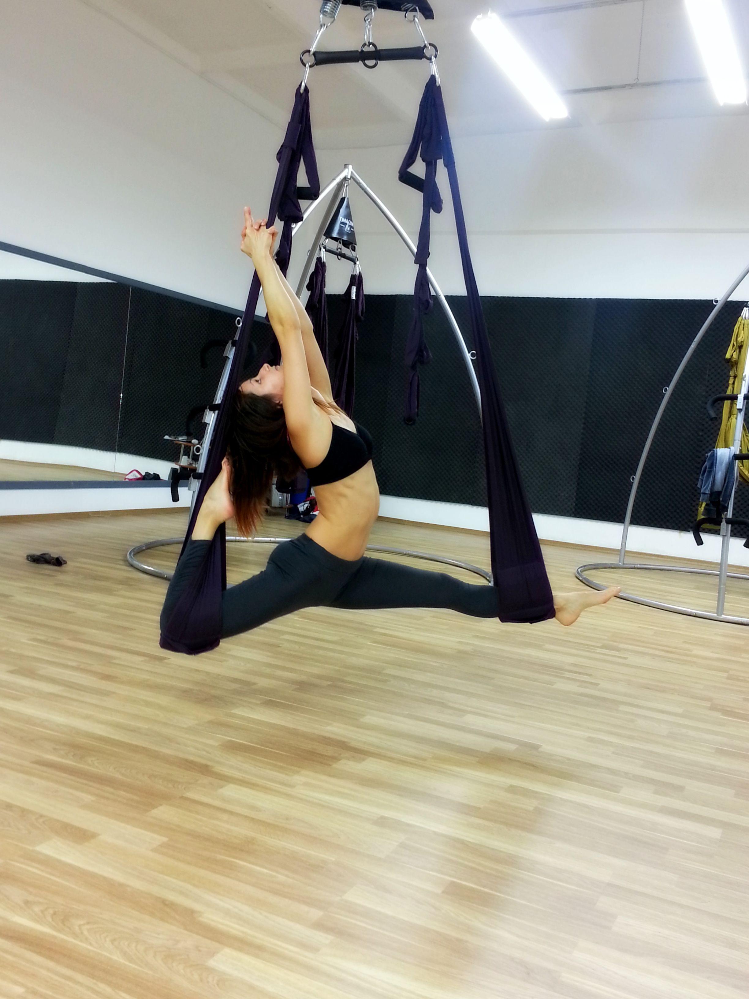 aerial yoga pose aerial yoga pose #omnigymstudio #oradea