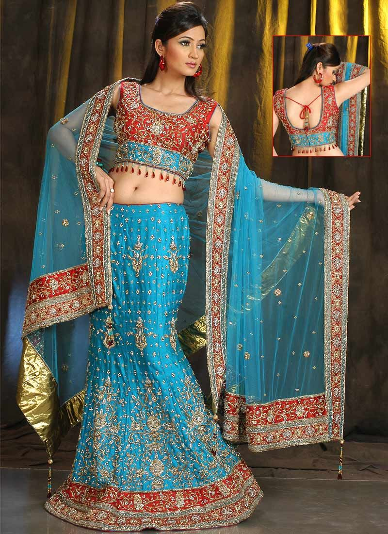 Blue is a gorgeous color to wear by the bride. I have looked for ...