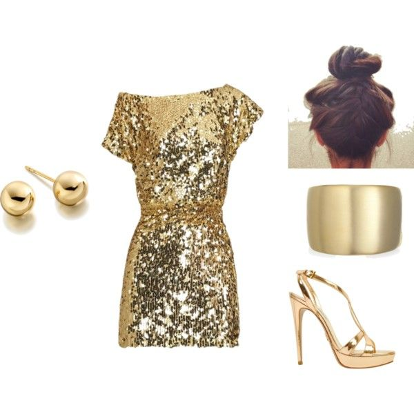 Gold, created by demelzaw on Polyvore