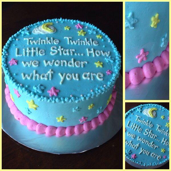 Gender Neutral Baby Shower Buttercream Cake