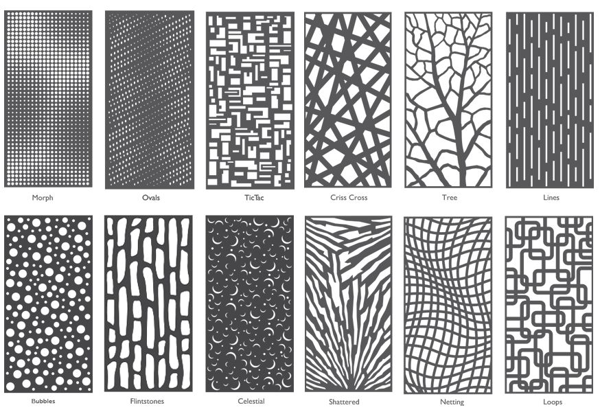 Decorative Wall Panels Metal Laser Cut