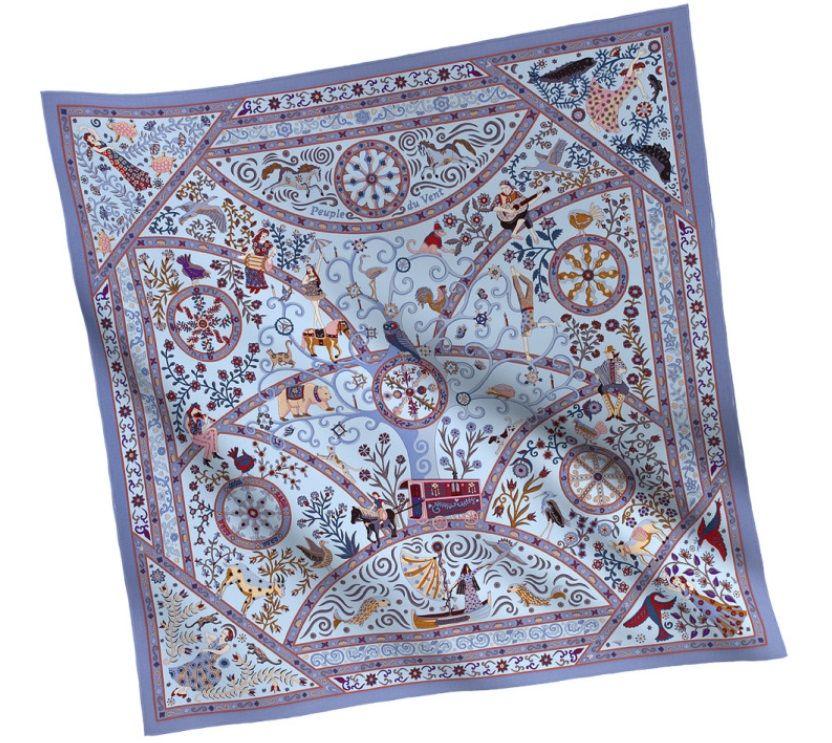 Foulards Hermes · Châle En Soie · Cachemire · 2014 F W   Peuple du Vent    Cashmere and silk shawl (140 cm 5caaf02e2d5