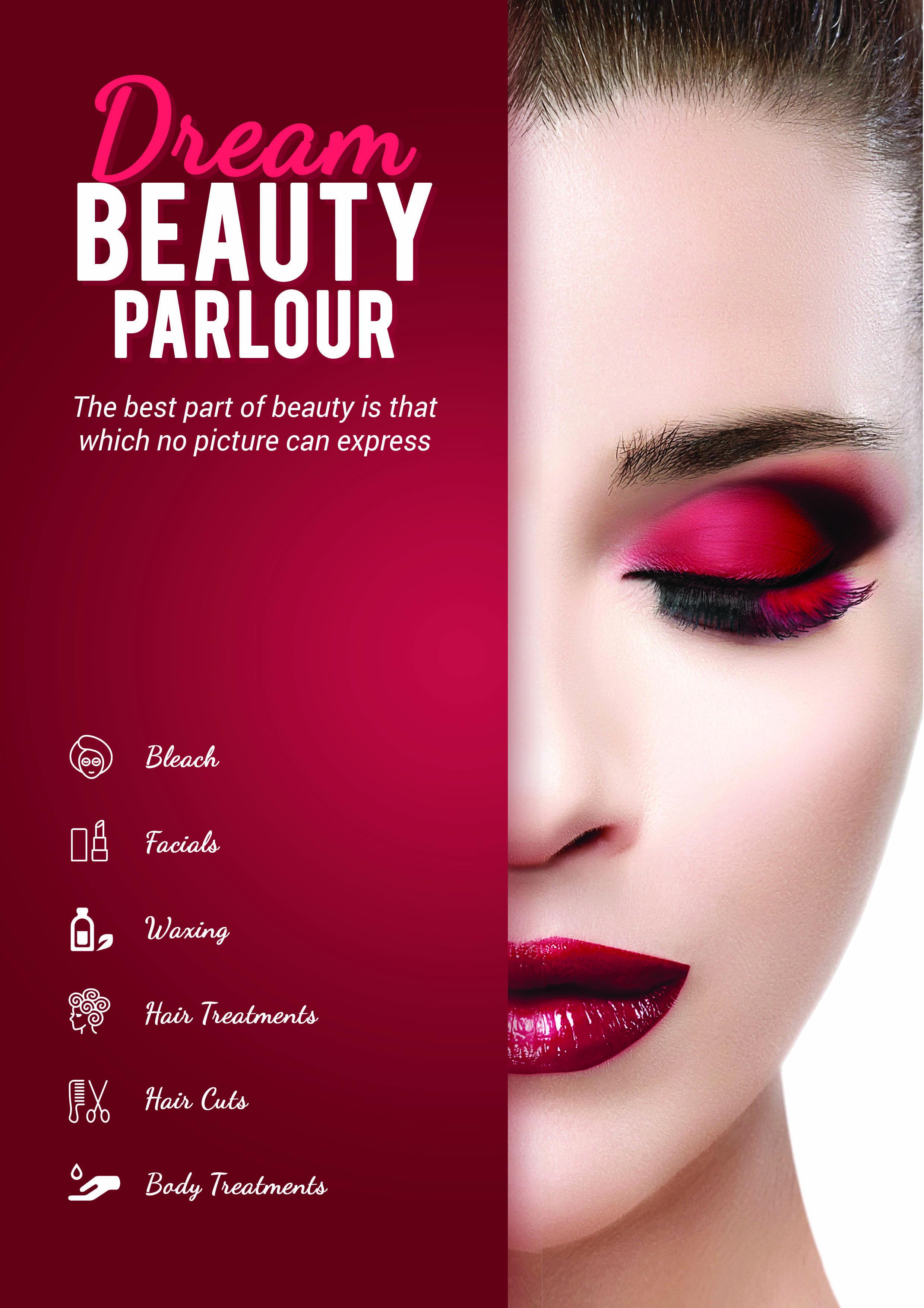 Beauty Parlor Brochure Beauty Salon Posters Beauty Parlor Beauty Posters