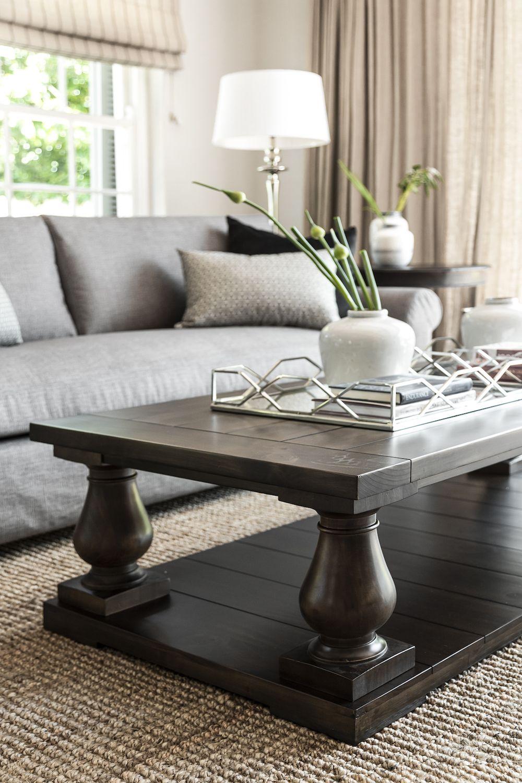dark wood coffee table living room