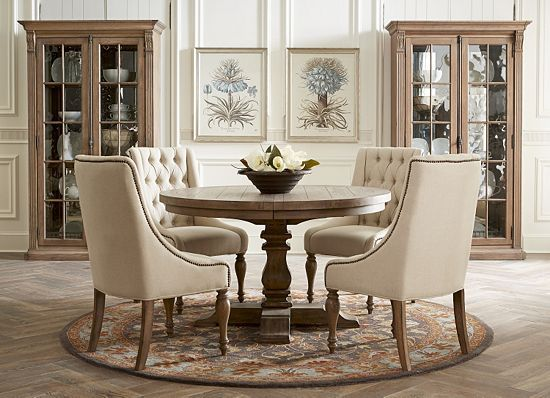 Dining Rooms, Avondale Round Dining Table, Dining Rooms | Havertys Furniture