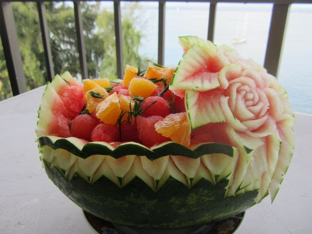 Carved watermelon baskets bing images wedding