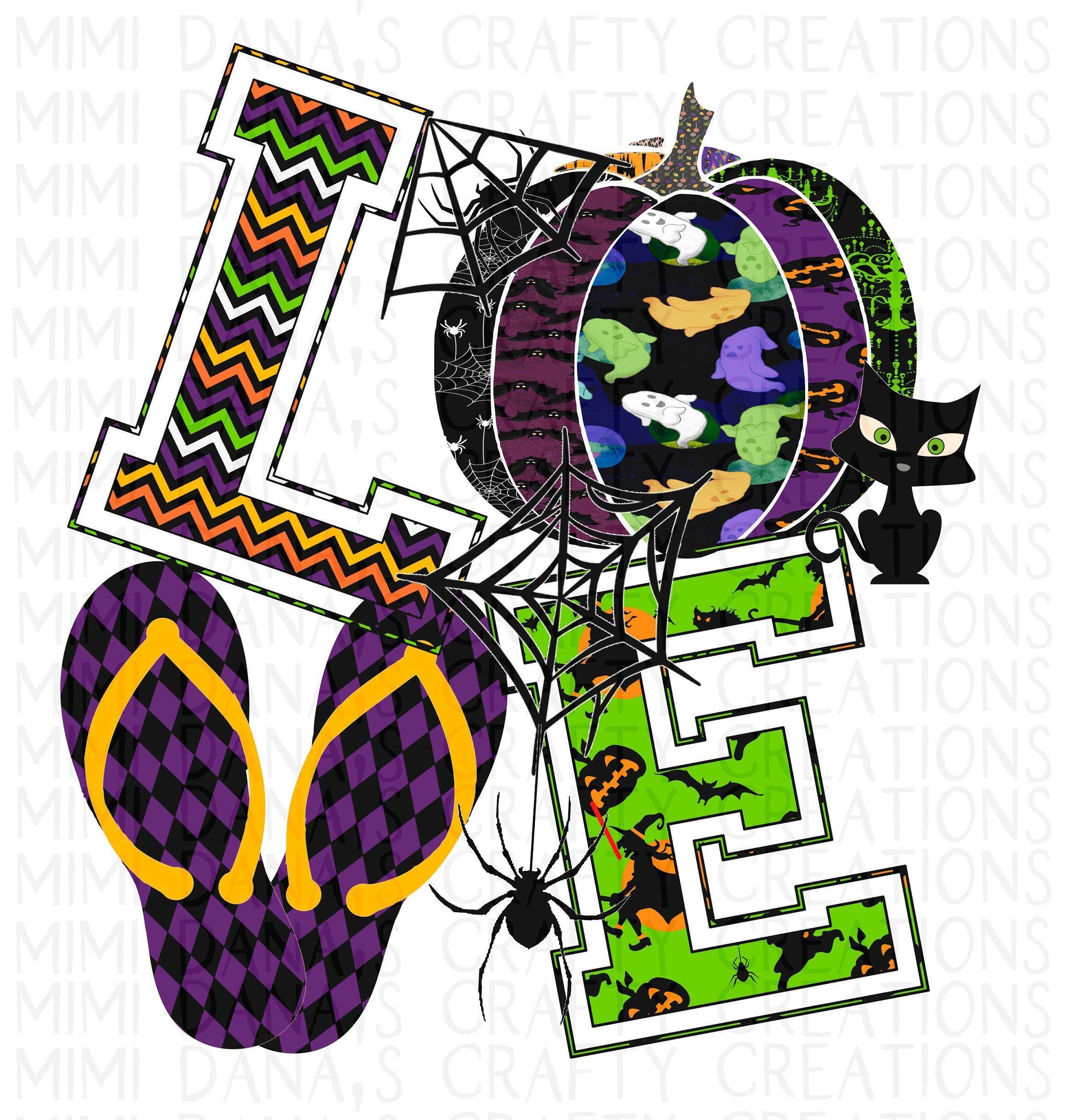 Halloween Pumpkin Love Flip Flop Clipart (Transparent PNG ...