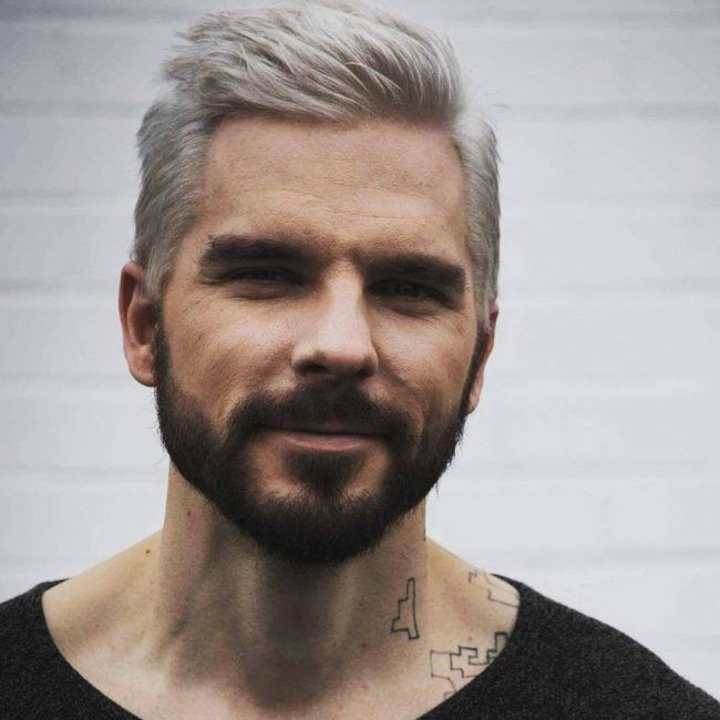 Platinum+Blonde+Combined+with+Contrasting+Beard | Men\'s color ...