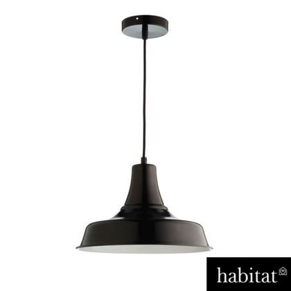 Habitat emmanuelle pendant black white at homebase be inspired and make your house a home