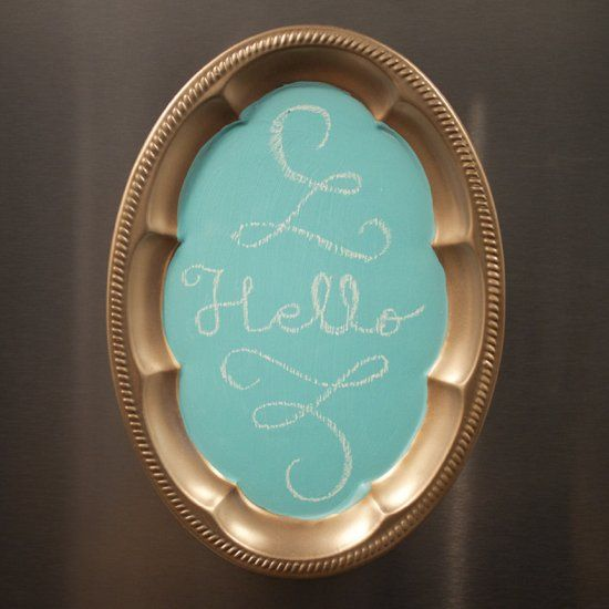 A do it yourself chalkboard magnet. An adorable way to display quotes or lists for under $10.