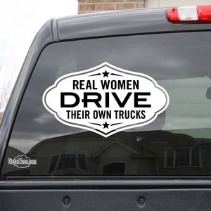 Sticker - Bumper - Real Women Drive Trucks - фото 10