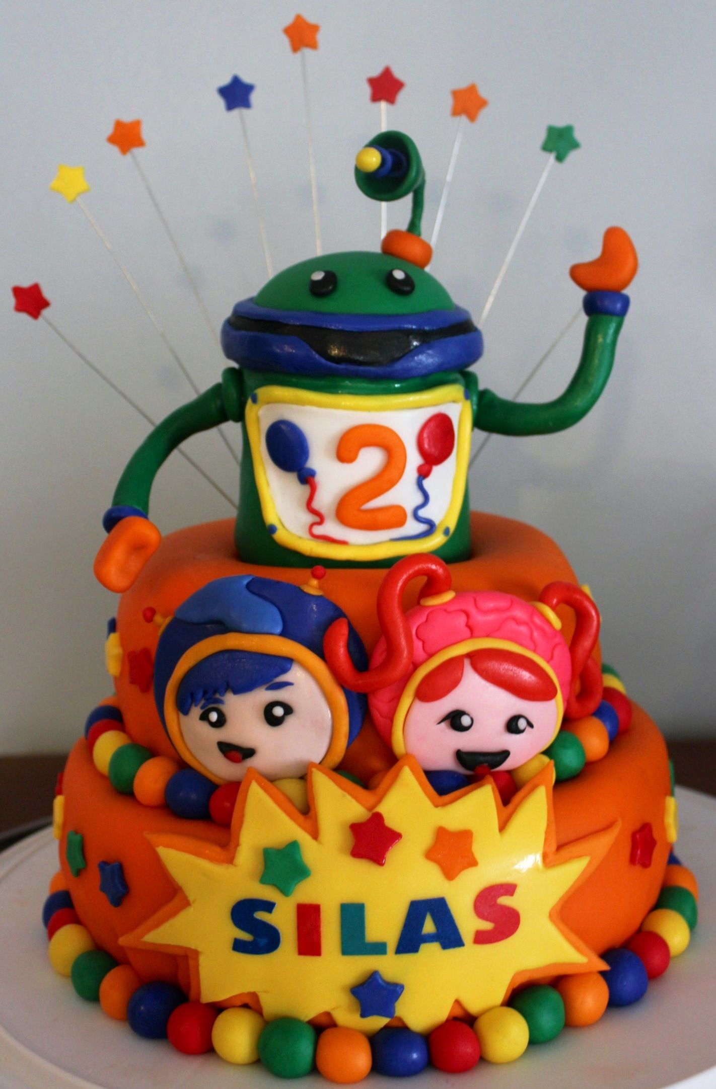 Team Umizoomi Milli Geo And Bot Fondant Cake This One I