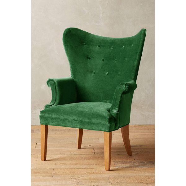 anthropologie velvet wingback chair 1 248 liked on polyvore rh pinterest com