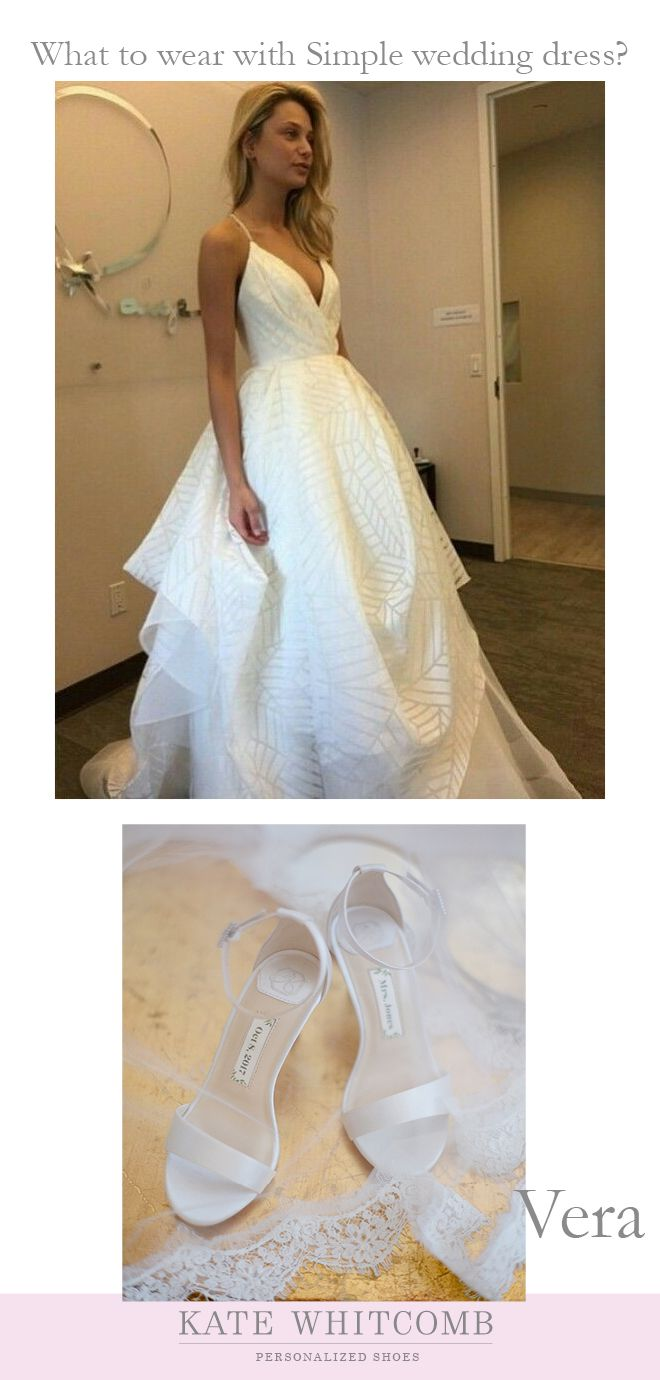 Wedding dress simple bride satin wedding dress elegant bride