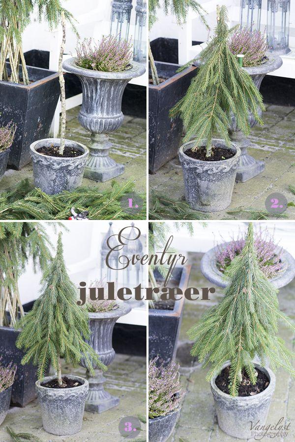 DIY eventyr juletræer juledekoration | www.vangelyst.dk