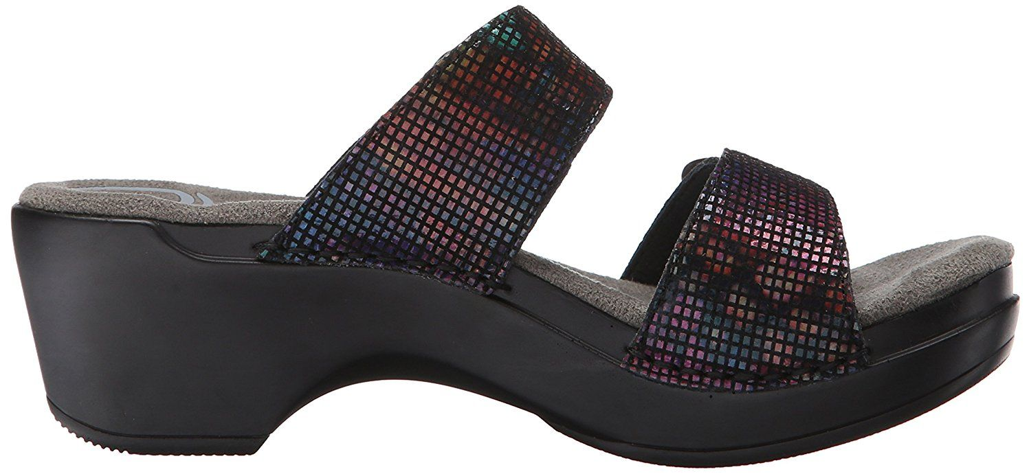 3748712092d Dansko Women s Sophie Black Stained Glass Wedge Sandal     Check out this great  product