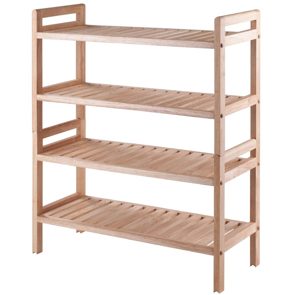 Armadio Rack Legno Winsome Mercury Stackable Shoe Rack 2 Piece Set In 2019 Products