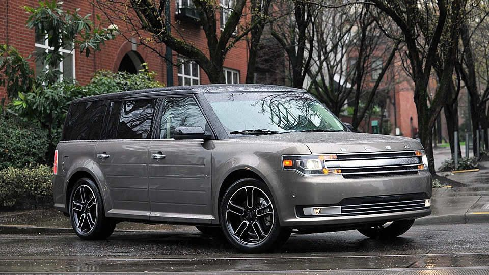 2014 Ford Flex Limited In Mineral Gray Metallic With The