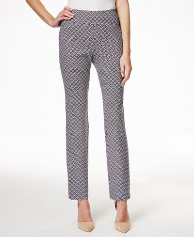 Charter Club Printed Cambridge Slim Ankle Pants, Only at Macy's - Pants & Capris - Women - Macy's