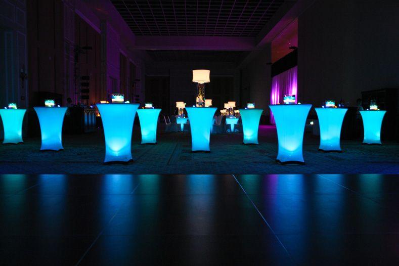 I Chose White Led Lights For Mine Under Spandex Cocktail Table
