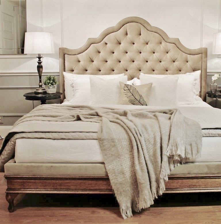 $3900 King. Upholstered Beds, Upholstered Bedheads, Headboards, Buttoned  Bed, Buttoned Bedhead Idea