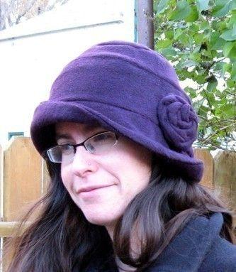 FLEECE Cloche hat SEWING PATTERN vintage style warm flapper 1920\'s ...