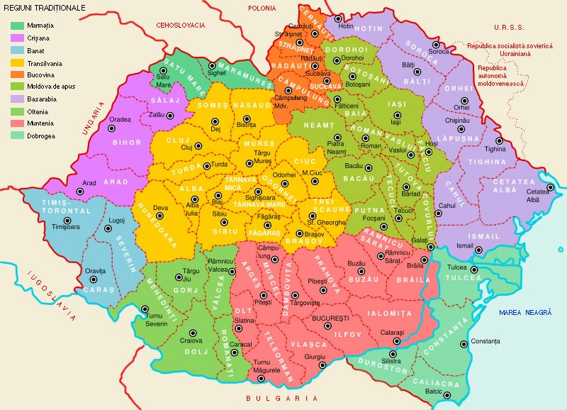 Harta Romaniei Romania Interbelica Romani Hartă Steag